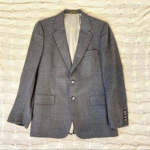 {Christian Dior} Blazer Jacket Gray Two Button